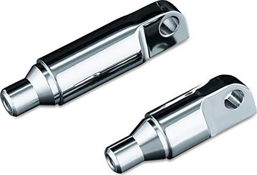 "Kuryakyn 8063 Motorcycle Foot Control Component: 1-1/2"" Male Mount ISO Footpeg Extensions, Chrome, 1 Pair"
