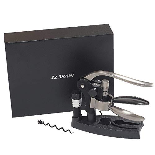 JZBRAIN Rabitt Wine Opener Corkscrew Bottle Opener with Foil Cutter/Extra Corkscrew Spiral (3 in 1 Kit), Bronze