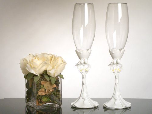 Calla Lily Toasting Glasses - 2