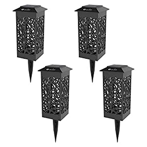 OxyLED Solar Powered LED Garden Pathway Lights,Ideal for Halloween Decorations, Automatic Led Decorative Landscape Lighting Driveway Security Lights for Garden Patio Lawn Yard