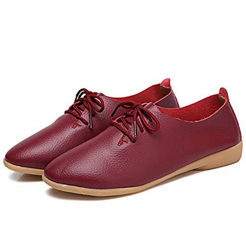 Qiusa Scarpe (Colore : Rosso, Dimensione : EU 40)  Rosso