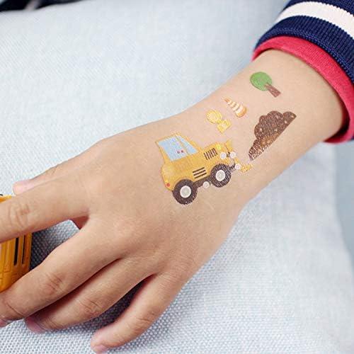SZSMART Tatuajes Infantiles, Vehículo Tatuaje Temporale para Niños ...