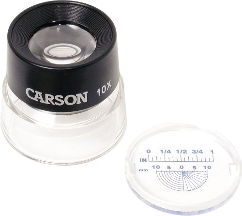 Carson LumiLoupe 10X Power Stand Magnifier With Dual Lens - Miami Glasses Eye