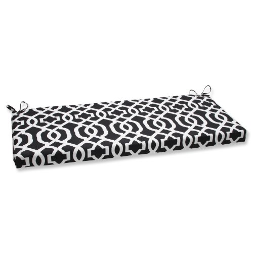Pillow Perfect New Geo Bench Cushion, Black/White (Bench Glider White)