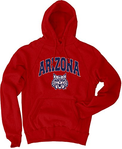 Blue 84 NCAA Arizona Wildcats Men's Sanded Pullover Hoodie, Red, X-Large -