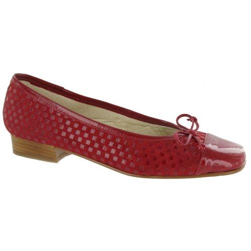 Riva - Bailarinas para mujer Rojo
