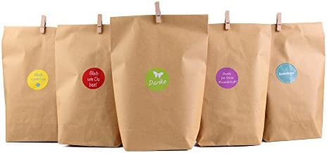 Bolsas para regalo estilo natural (72 piezas,24 bolsas de ...
