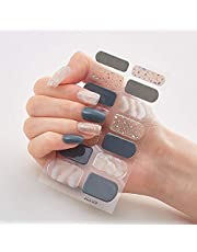 0F 14 kinds of DIY nail stickers nail wrap nail sticker nail stickers set design is full of aesthetic design nail decals (Color : DQ3 08)