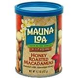 Hawaiian Gift Basket Mauna Loa Macadamia Nuts Honey Roasted 6 Cans by Mauna Loa