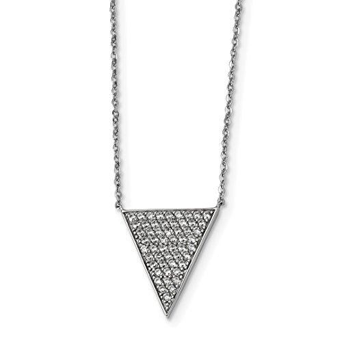 ICE CARATS 925 Sterling Silver Cubic Zirconia Cz Triangle Dangle Chain Necklace Pendant Charm Fine Jewelry Ideal Gifts For Women Gift Set From Heart -