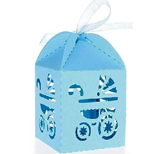 ARAYACY Caja De Dulces Hueca Europea/Caja De Dulces/Carrito De Bebé Caja Hueca/Bandeja Azul (100PCS)