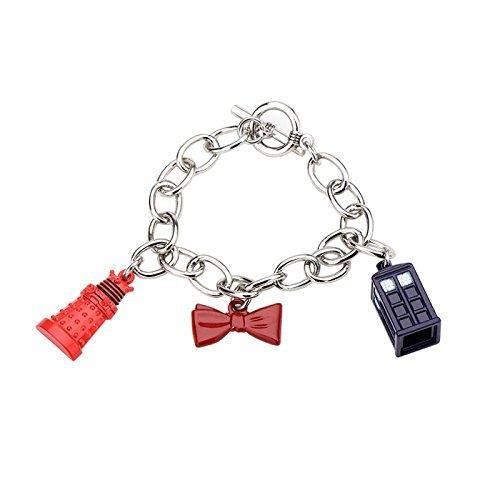 w Tie, And Tardis Charm Bracelet (Wicked Charm Bracelet)