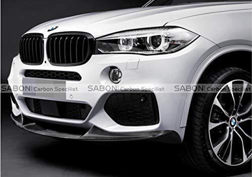 Deluxe Carbon Fiber - F15 X5 M Sport Front Lip-P Style Carbon Fiber Front Splitter for BMW F15 X5