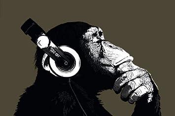 Amazon.com: HUGE LAMINATED / ENCAPSULATED Monkey Thinking ...