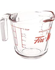 Anchor Hocking 77895 Fire-King Measuring Cup, Glass, 1-Cup