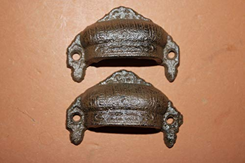Antique Look Bin Pulls Cottage Chic Cast Iron Brown Finish, Bulk Priced Set of 16, HW-17 by Southern Metal (Image #7)