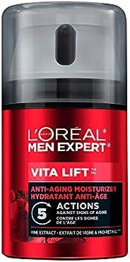 L'Oreal Paris Men Expert Vita Lift 5, Anti Aging Mens Face Moisturizer, with Pro-Retinol Formula, Targets