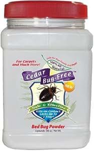 Bed Bug Powder - Cedar Bug-Free Bed Bug Powder. Kills Bed Bugs in Carpet - 3 pounds