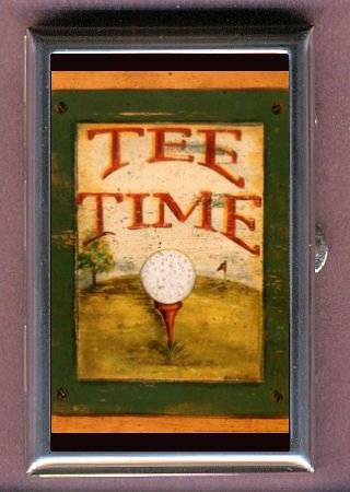 GOLF BALL TEE TIME ANTIQUE IMAGE Coin, Mint or Pill Box: Made in USA!