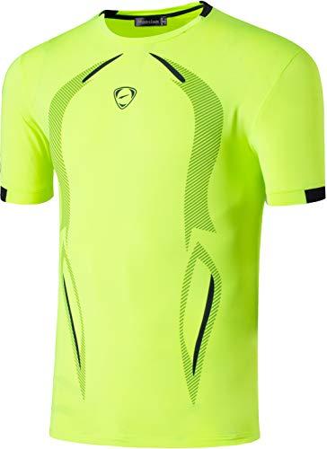Asciugatura Sportivo Tshirt Uomo shirts Fashion Lsl133 Tops Sport T Lsl187 Casuale greenyellow Men's Tee Jeansian Running Rapida Camicie 5xgqwRR
