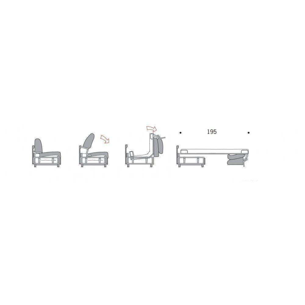 DITRE ITALIA Sofá Zeus Convertible Apertura Rapido de Alta definición Dormir 160 cm Tejido Microfibra, Color Blanco Roto: Amazon.es: Hogar