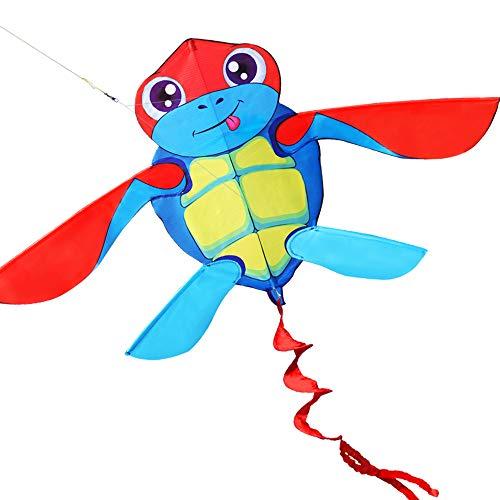 HENGDA KITE for Kids So Cute Cartoon Turtle Kite Single Line Kite Flying for Children Kids Outdoor Toys Beach Park -