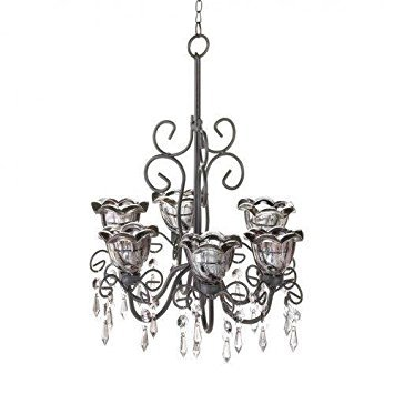 Gallery of Light 10016072 Midnight Blooms Chandelier, Multicolor
