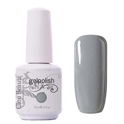 Clou Beaute Gelpolish 15ml Soak Off UV Led Gel Polish Lacquer Nail Art Manicure Varnish Color Light Grey 1441