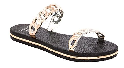 Beaute Motekjeden Kvinners Komfort Flip Flop Lysbilde Sandal # 1 Ekstra Komfortabel Ekstra Polstret Svart