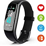 LEMOONE Fitness Tracker HR, IP68 Waterproof Activity Tracker with Color Screen, Health Tracker Heart Rate Blood Pressure Calories Pedometer Call/SMS Remind for Smart Watch for Men Women Kids