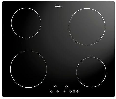 Mora VDS 631 C Integrado Cerámico Negro - Placa (Integrado, Cerámico, Negro, 14,5 cm, 18 cm, Tocar)
