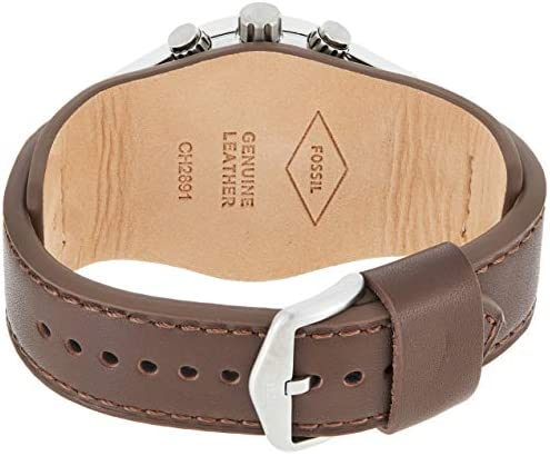 Fossil Men's Coachman Quartz Leather Watch Brown Color: Chronograph Silver Model: Wallet WeeklyReviewer