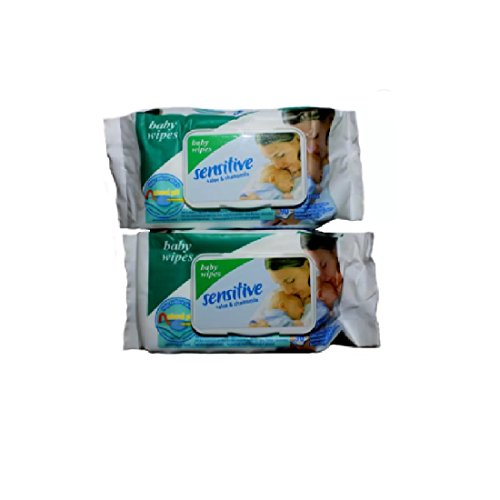 Sensitive Baby cotton wipes Pack of 2   180 Pcs