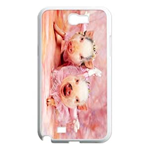 Cute pet pig baby pig Hard Plastic phone Case Cover For Samsung Galaxy Note 2 Case ZDI002579