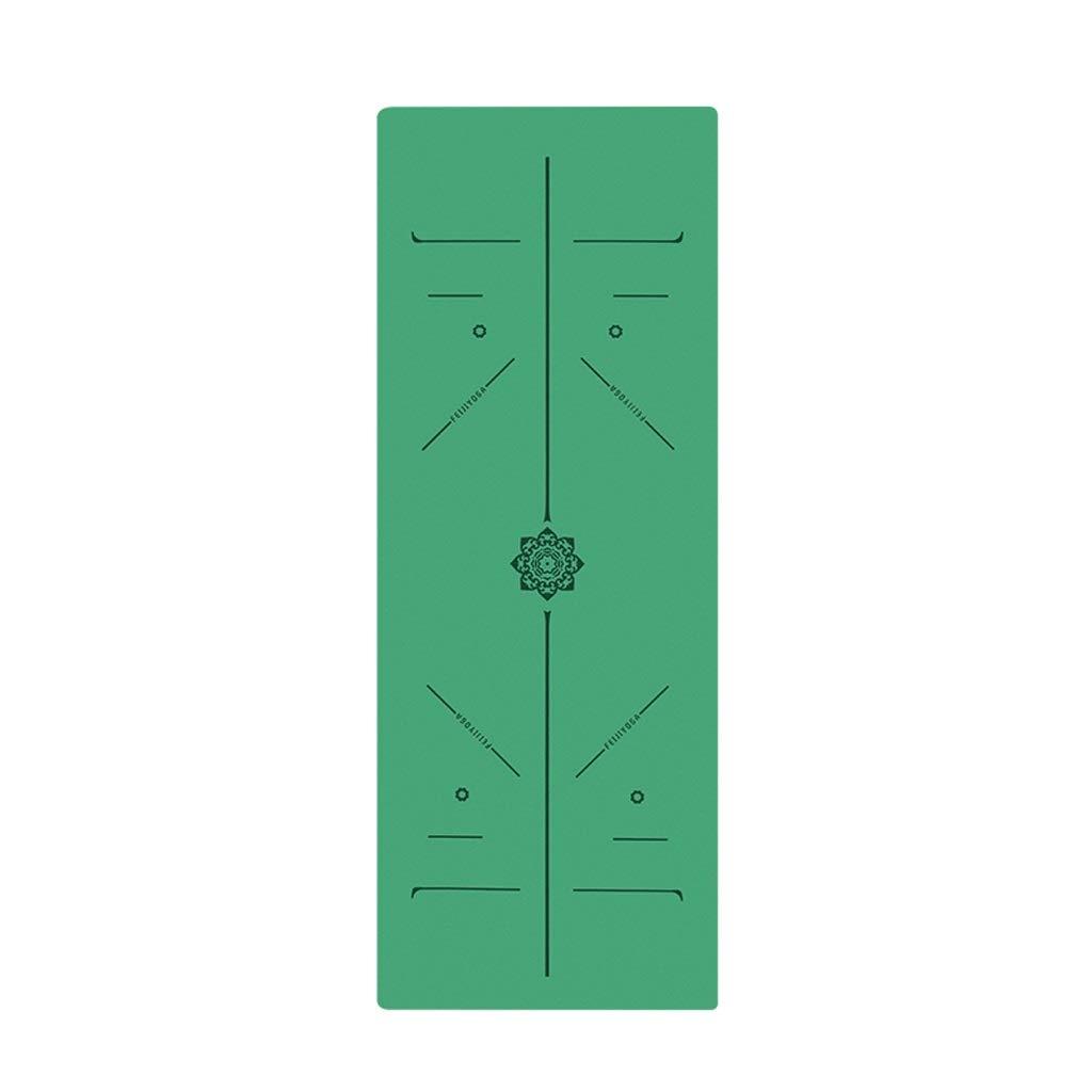 JSSFQK ヨガマット肥厚ロングビギナー天然ゴムフィットネスマット腹筋スリーピース ヨガマット (色 : D) B07RHDZBWY C C