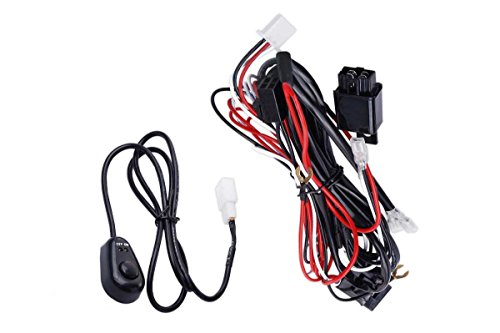 Prime Choice Auto Parts WH840AB2 Light Bar Wiring Harness with Button with 2 Connectors