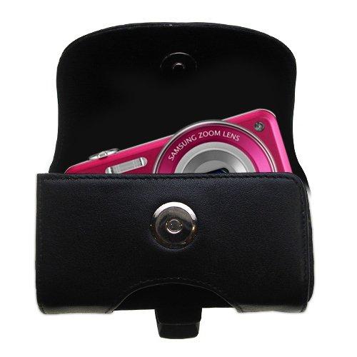 ベルトマウントレザーケースカスタムDesigned for the Samsung st95 – ブラックカラー取り外し可能なクリップby Gomadic B007FDLLRG