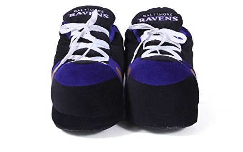 Baltimore Sneaker Slippers Ravens Womens Comfy and Feet Feet LICENSED Happy NFL OFFICIALLY Mens w7qzpvP7n