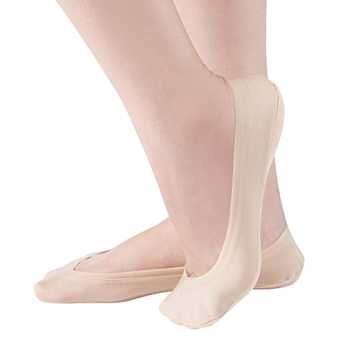 (4 Pairs Women No Show Socks Ultra Low Cut Liner Invisible Casual Non Slip Boat Socks)