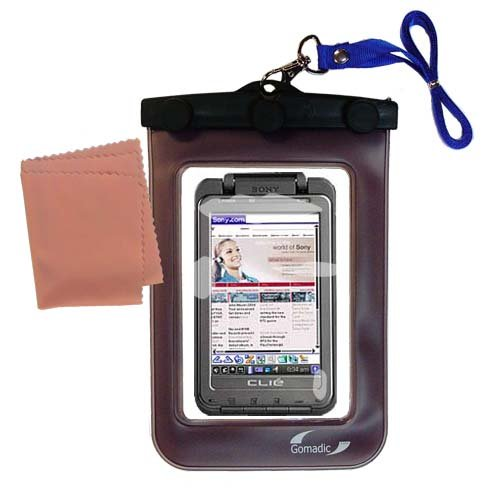 underwater case for the Sony Clie TH55 - weather and waterproof case safely protects against the (Sony Clie Case)