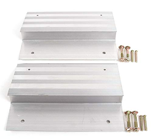 2 PCS Heavy Duty 12'' Aluminum Ramp Top/End Set with Mounting Hardware (Boards Not Included) by [Fengo]