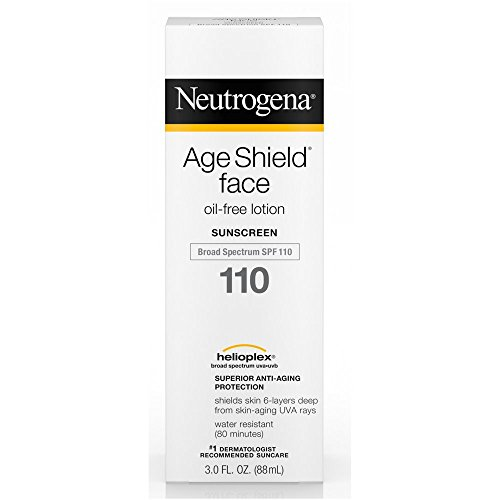 Neutrogena Age Shield Face, Sunscreen Lotion, SPF 110 3 oz (Pack of (Best Oil Free Sunscreen)