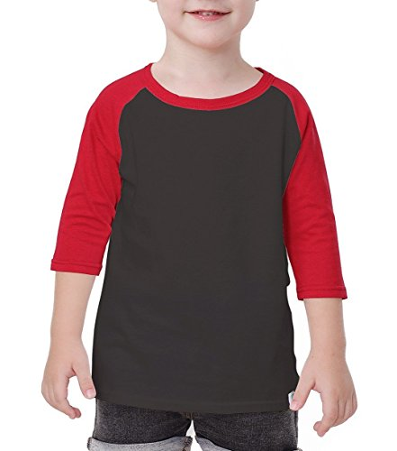 Child Raglan Plain DIY Crew Neck Funny Half T Shirts 3/4 Sleeves School Uniforms Baby Tees 8Y