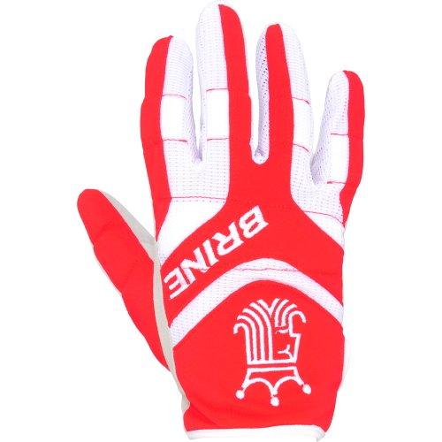 Brine Fire Warm Lacrosse Weather Mesh Gloves (Small, Scarlet)