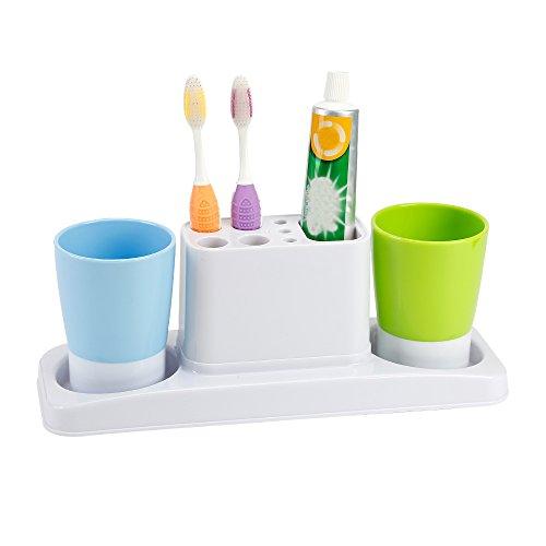 Eslite Bathroom Toothbrush Toothpaste Stand Organizer Plasti