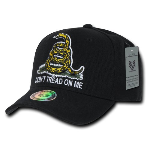 Rapiddominance Don't Tread On Me Cap, Black (Dont Tread)