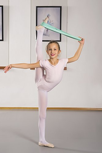 Ballet Stretch Band by Arragma | Flexibility-Improving Latex Resistance Band for Dance and Gymnastics with Storage Bag + Sterling Silver Ballerina Pendant by Arragma (Image #8)