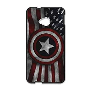 Happy Captain America's Shield Brand New And Custom Hard Case Cover Protector For HTC One M7