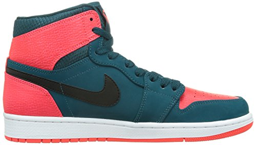 Nike Herren Air Jordan 1 Retro High Turnschuhe, Talla Grün / Schwarz / Rot / Weiß (Teal / Schwarz-Weiß-Infrarot-23)
