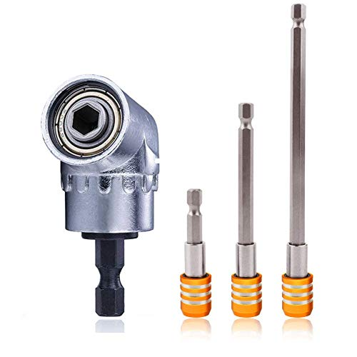 (Perhonor 105 Right Angle Drill Adaptor Extension+3pcs Quick Release 1/4